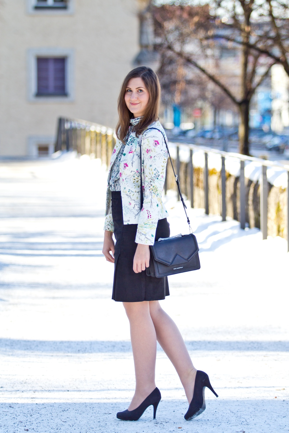Muster-Mix Frühling Outfit Modeblog München Fashion Blog