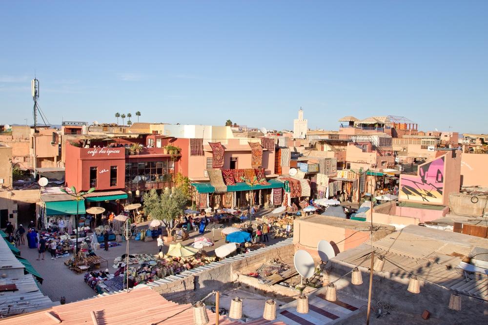 Marrakesch Restaurant Dachterrasse Nomad