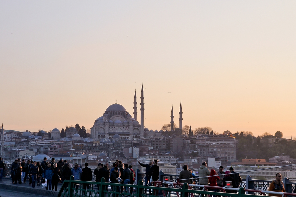 Istanbul Galatabrücke Bosporus